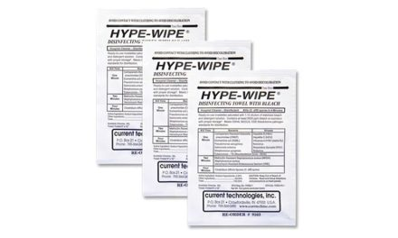 Hype-Wipe Towelettes Approved to Kill C. Diff in Four Minutes