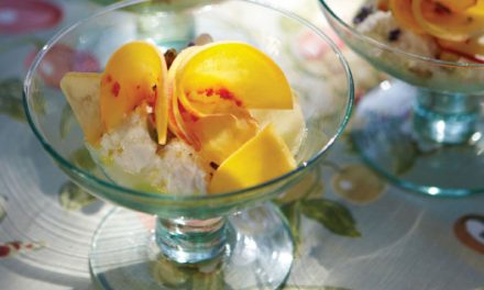 Sophisticated Summer Dessert Features Fresh Peaches