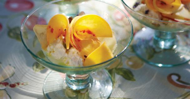 Sophisticated Summer Dessert Features Fresh Peaches