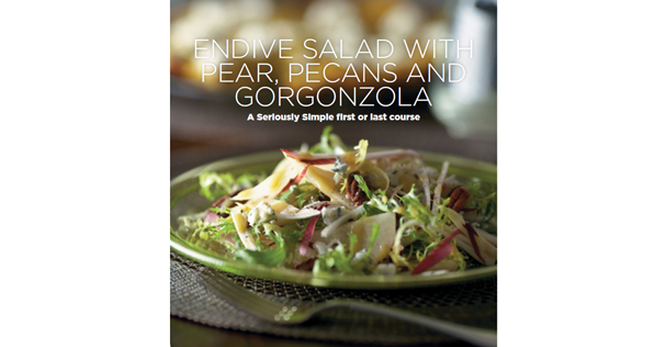Endive Salad with Pear, Pecans and Gorgonzola