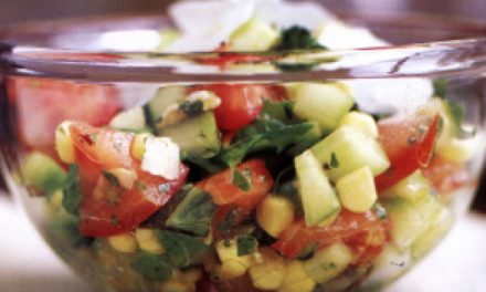 Summer Chopped Salad with Basil Vinaigrette