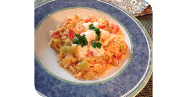 Scrambled Eggs Turkish Style