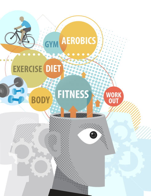 Fitness: Learning Lights the Brain