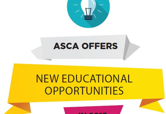 ASCA Offers New Educational Opportunities in 2015