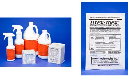 Hype-Wipe Bleach towelettes and Bleach-Rite Disinfecting Spray