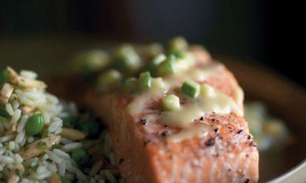 Slow Roasted Salmon with Miso Vinaigrette