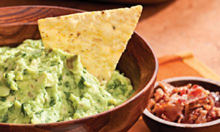 Recipe: Roasted Garlic Guacamole with help-yourself garnishes