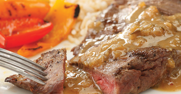 Recipe: Grilled Steak with Whiskey Dijon BBQ Sauce
