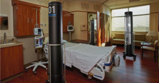 UV-C Disinfection System Utilizes 3 Emitters to Eradicate Drug-Resistant Organisms