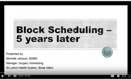 First OR Today Webinar of 2017 Examines Block Scheduling