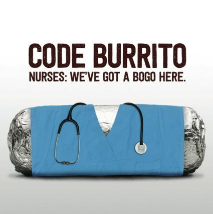 CODE BURRITO: BOGO for Nurses on June 14
