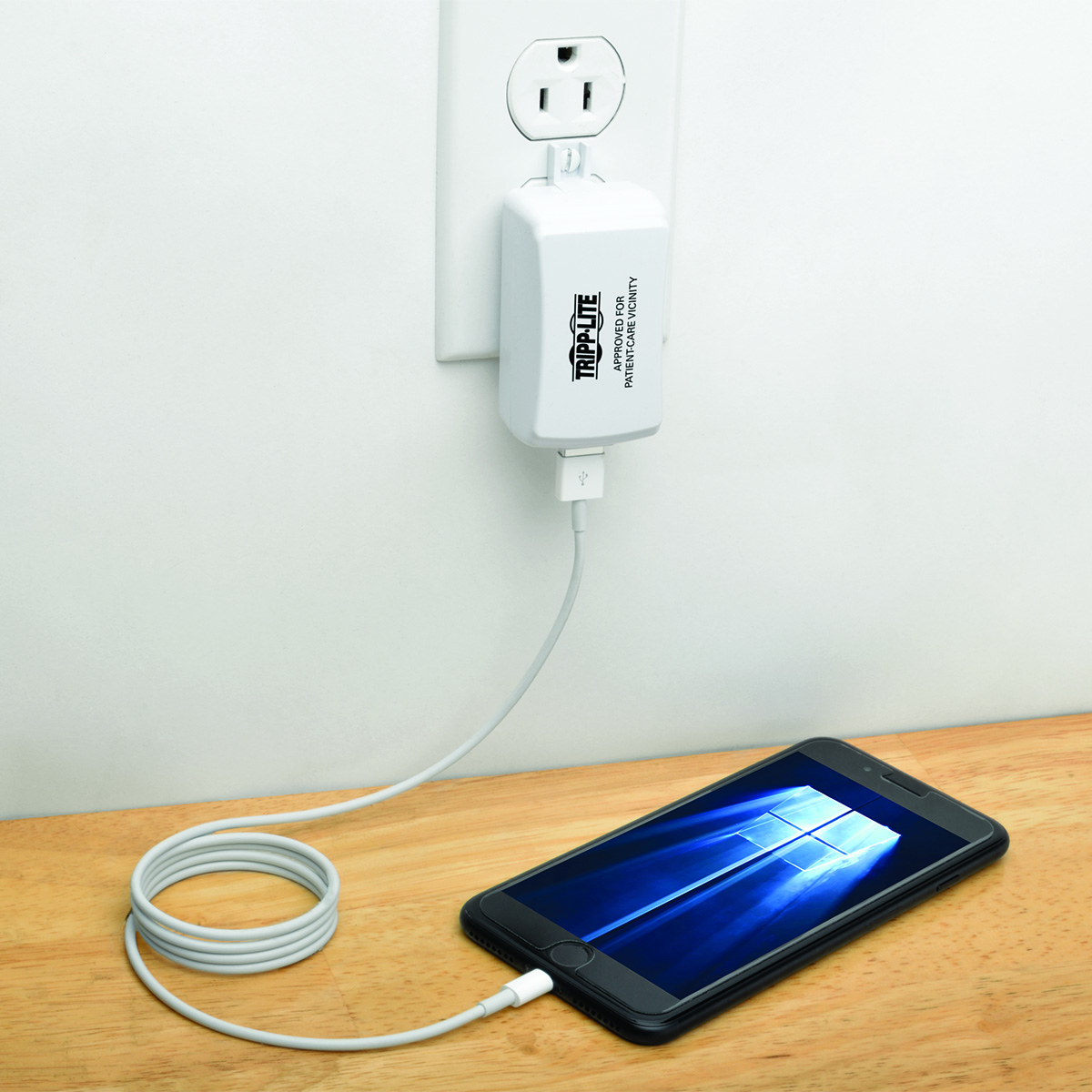 A USB Charger for Patient-Care Vicinities