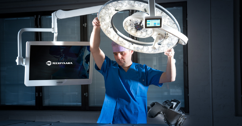 Merivaara Q-Flow surgical light can reduce the risk of infection