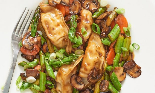 Dumplings are the perfect starch for a simple stir-fry