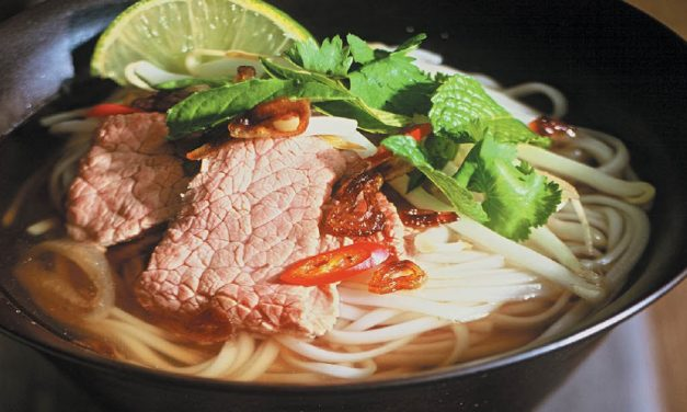 Vietnamese beef and noodle soup is a one-dish meal
