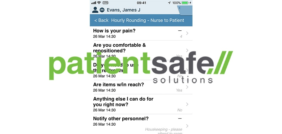 PatientSafe Solutions Launches Advanced Rounding Tool