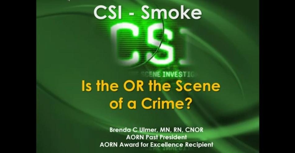 Webinar Addresses OR Smoke