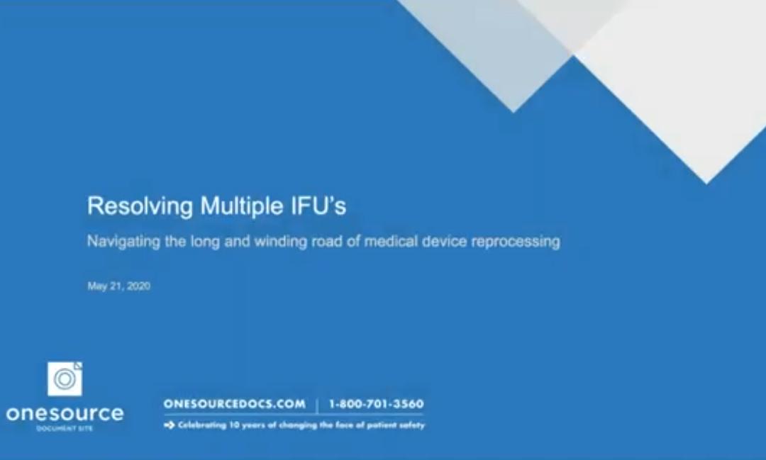 Webinar Addresses Resolving Multiple IFUs