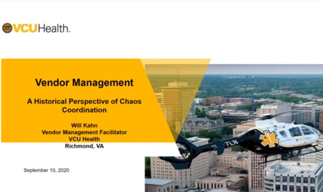OR Today Webinar Explores Vendor Management