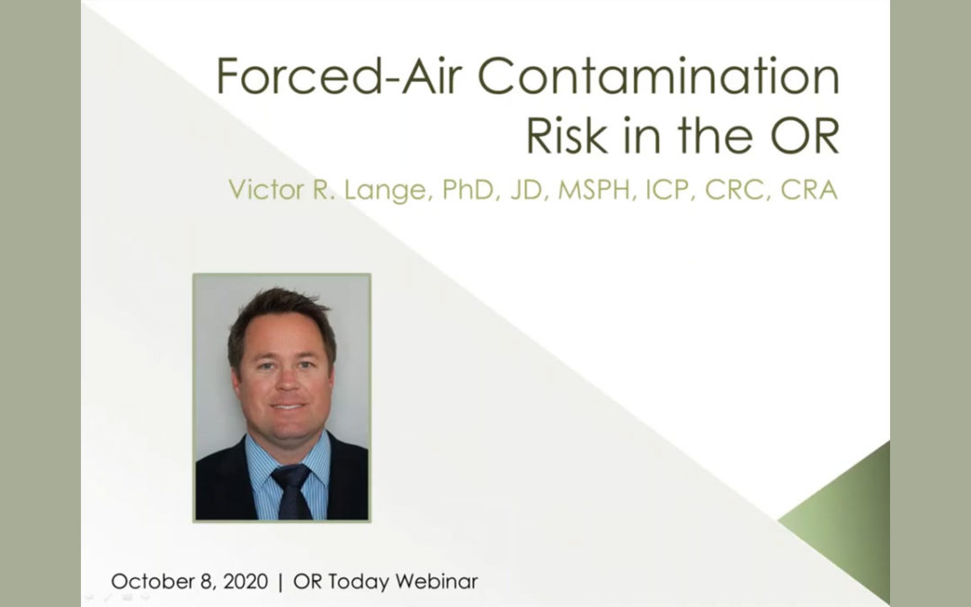 Webinar Addresses Forced Air Contamination Risk
