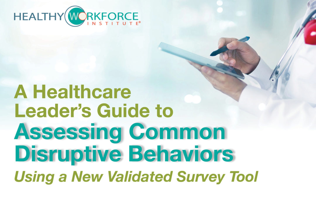 Report Helps Leaders Address Disruptive Behaviors