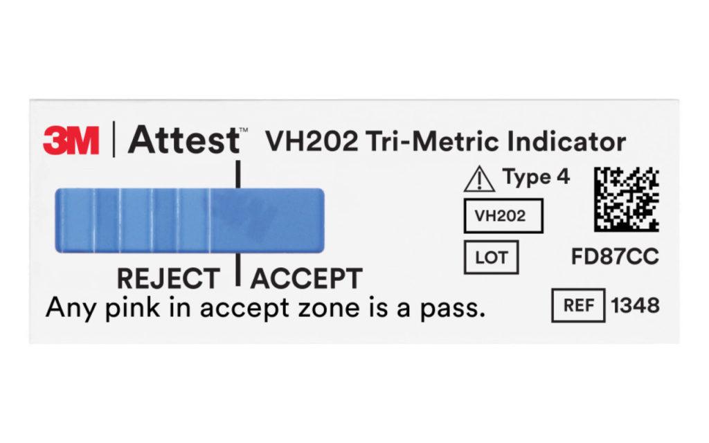 3MAttestVaporized Hydrogen Peroxide (VH202) Tri-Metric Chemical Indicator
