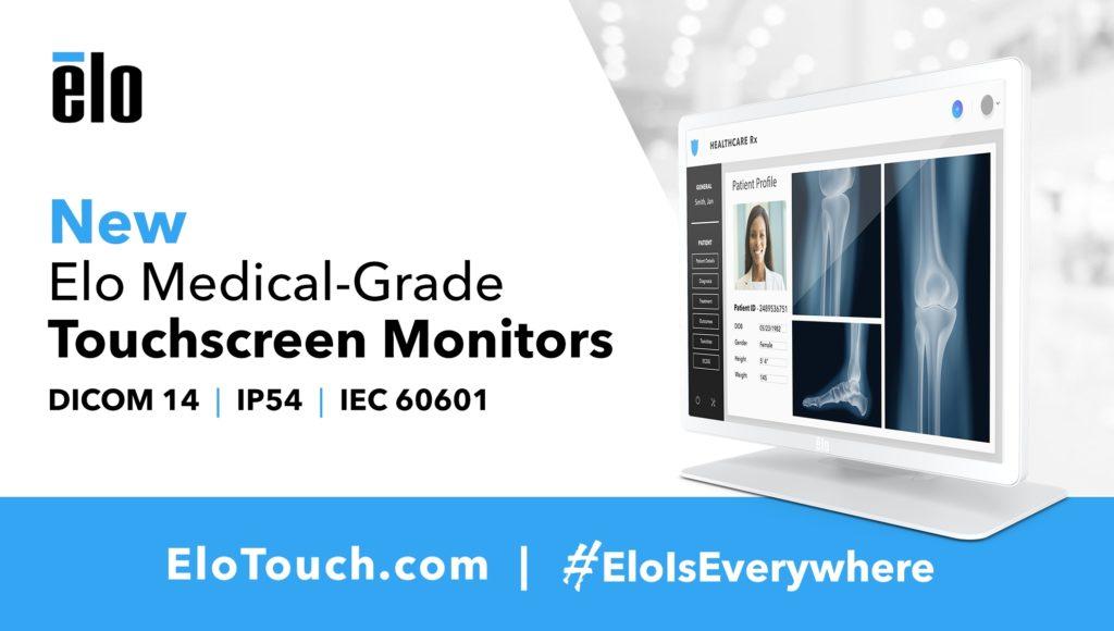 Elo Introduces DICOM-Compliant Touchscreen Displays