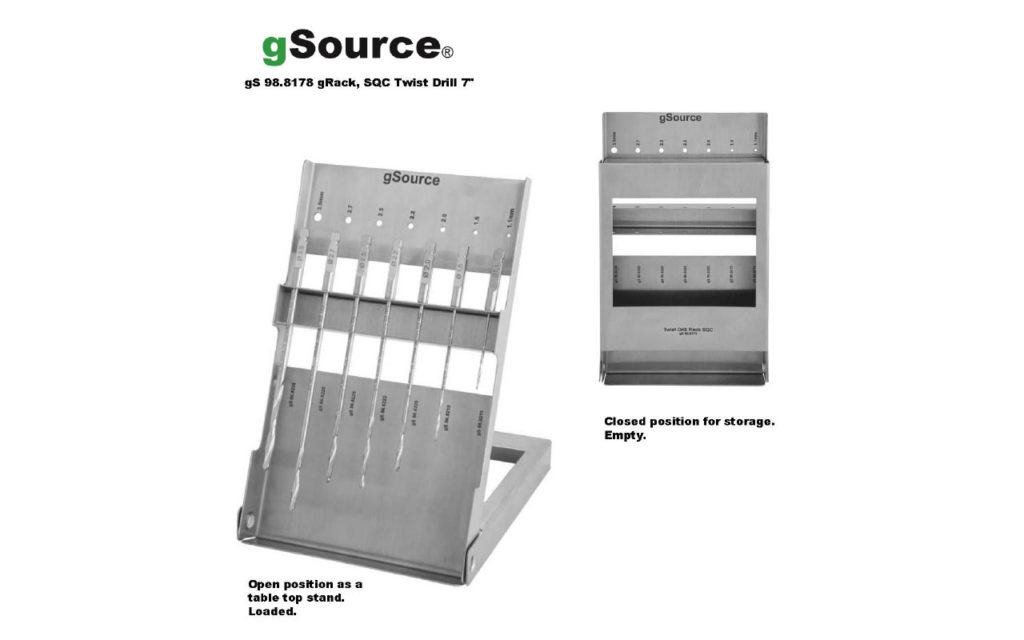 gSource SQC Twist Drill gRack