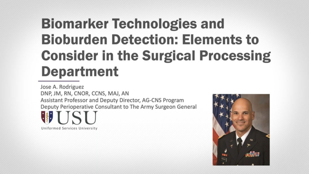 Biomarker Technologies and Bioburden Detection: Elements to Consider in the Surgical Processing Department