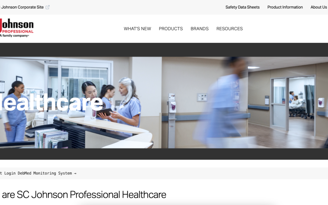 SC Johnson Professional Launches New Healthcare Website